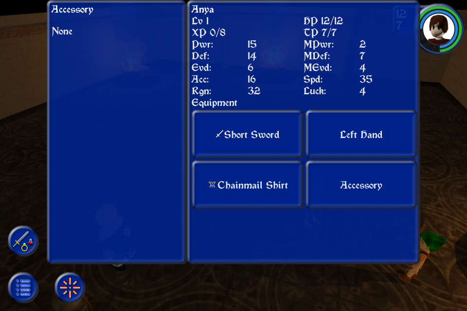Dragon's Gaze Image 4: Checking the character's status and equipment