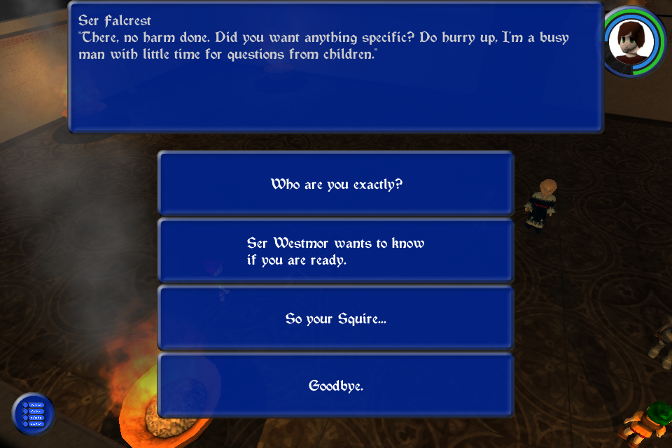 Dragon's Gaze Image 6: Conversation choices